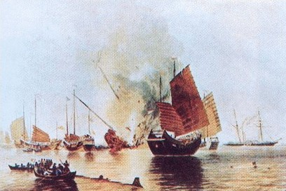 学生 中国近代史/图为英国教材中中国近代史图片。