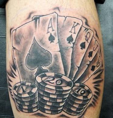那些令人匪夷所思的德州扑克纹身